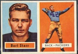 1957 Topps Bart Starr rookie card