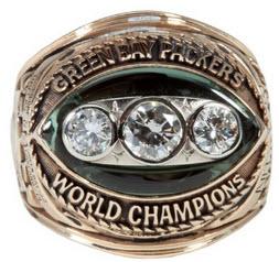 Super Bowl II ring Packers Ray Nitschke